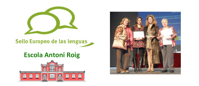 The <strong>Antoni Roig School</strong> wins the 2012 European Label with an activity created in the language laboratory